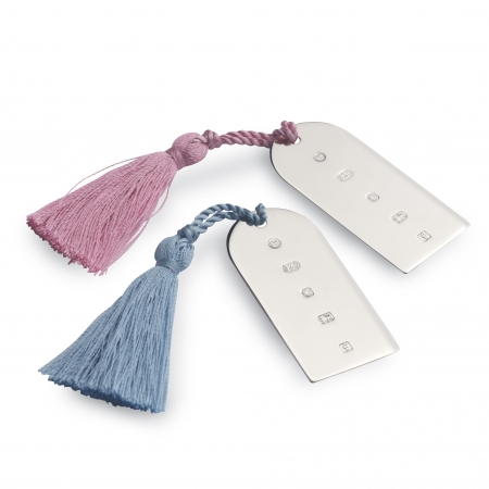 Silver Blue Tassel Bookmark
